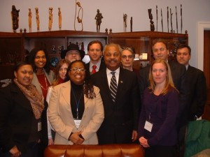 New Jersey Contingent with Congressman Donald Payne